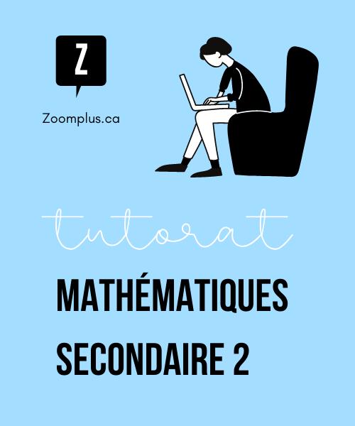 Cours de maths en ligne secondaire 2