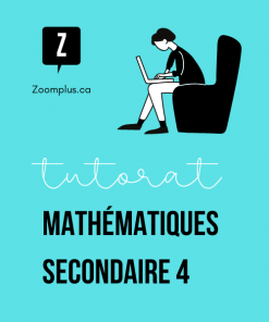 Cours de maths en ligne secondaire 4